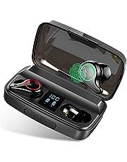 Écouteur Bluetooth 5.0, Donerton Oreillette Bluetooth avec 96H Playtime 2000mAh Boîte de Charge, 3D Stéréo Écouteurs sans Fil avec Micro Intégré et Réduction de Bruit, Contrôle Tactile et Écran LED