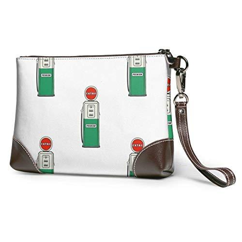 BFDX Tankstelle Pump Muster Leder Wristlet Clutch Geldbörsen Tasche Crossbody Clutch Wallet Handtaschen für Frauen