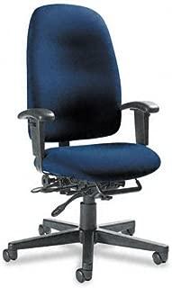 Global 32173NBKIM14 Granada Series High-Back Multi-Tilter Chair, Navy Blue Fabric