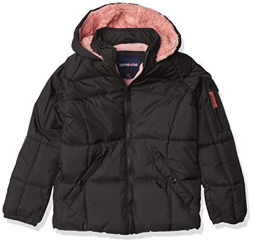 Limited Too Girls' Puffer W/Sherpa Fleece, Black, 10/12