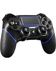 Maegoo Controller per PS4, Bluetooth Wireless Controller Gamepad Joypad Joystick Con Vibrazione Dual Shock Pannello Touch Turbo e Jack Audio per Playstation 4/Pro/Slim/PS3