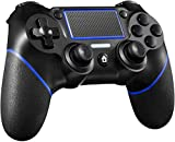 Maegoo Mando para PS4, Bluetooth Inalámbrico Mando Gamepad Joypad Joystick con Dual Shock Vibración Turbo Touch Panel y Audio Jack para Playstation 4/Pro/Slim/PS3