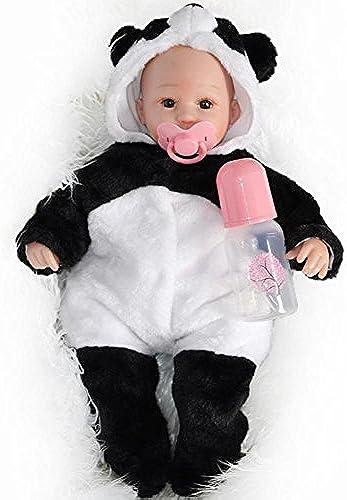 SHTWAD Lebensechte Weiße Silikon Baumwolle   Reborn Baby Puppe Schnuller 45-50cm Kind