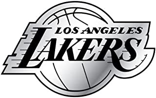 Hall of Fame Memorabilia Los Angeles Lakers Round Chrome Wall Clock