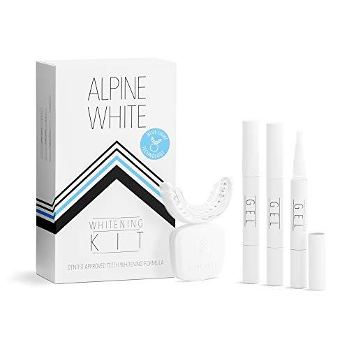 ALPINE WHITE Whitening Kit – Professionelles Zahnbleaching für Zuhause I Whitening LED mit Blue Light Technology und Whitening Gel für sichtbar weißere Zähne in nur 3 Tagen I Nur 15 Minuten täglich