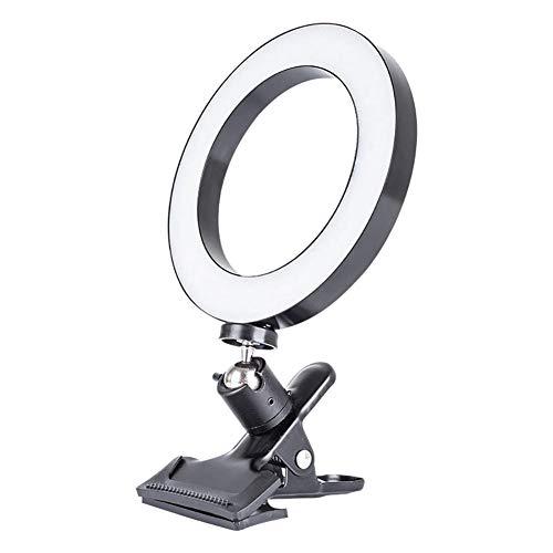 Clip-on Selfie Ring Light, USB Oplaadbare Make-uplamp, 3 Niveaus Instelbaar Invullicht met 36 LED's voor Smartphone Camera Fotografie Computer Livestream