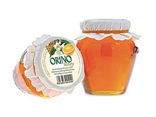 2 Gläser Orangen Blüten HONIG 2x 400g Glas Creta Mel Orino von der Insel Kreta in Griechenland - fruchtig herber Honig von Orangenblüten Orangenhonig Bienenhonig
