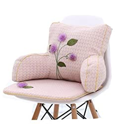 shade of pink color with purple flower on it looks elegant, simple, and lovely. Girls reading pillow