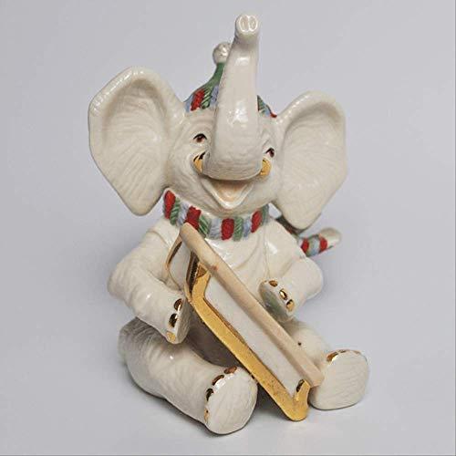 SUPERHUA Home Salón Cerámica Elefante Decoración TV Armario Vino Armario de Boda Interior Crafts