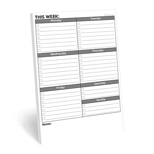"""321Done Weekly Checklist Notepad - 50 Sheets (5.5"""" x 8.5"""") - This Week to Do Notepad Tear Off Planning Pad, Planner Checklist Organizing - Made in USA - Plain"""