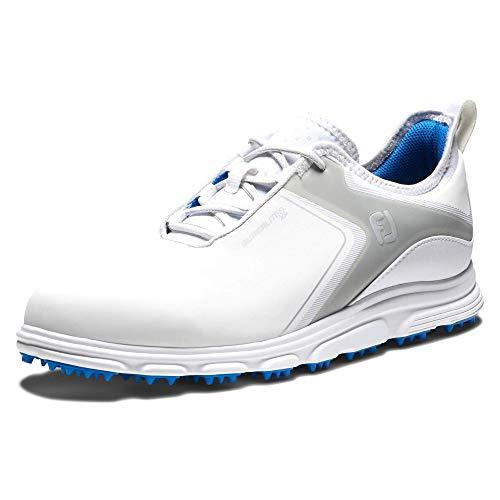 Footjoy Superlites, Scarpe da Golf Uomo, Blanco/Gris/Azul, 45 EU