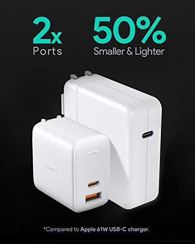 AUKEY Omnia USB C Ladegerät 65W Power Delivery 3.0, USB-C Netzteil mit GaNFast Tech & Dynamic Detect, Schnelles PD Ladegerät für 13''MacBook Pro, iPad Pro, iPhone SE, Google Pixel 4XL, Nintendo Switch