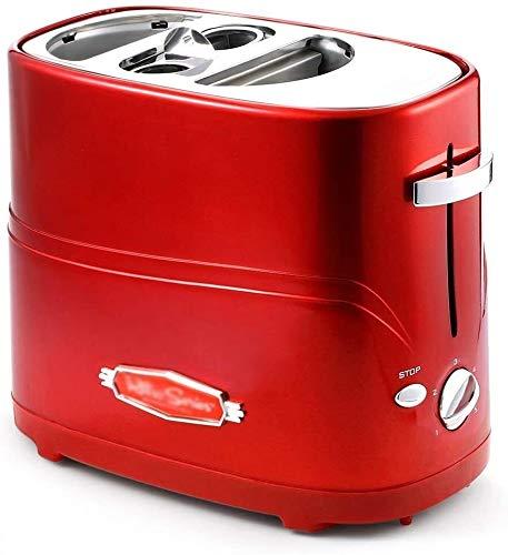tostapane hot dog CattleBie Maker Rimovibile Pop-Up Hot Dog Tostapane Pane con Tong Regolabile Tempo di Cottura semplici da Pulire Colazione Pane Hot Dog Tostapane