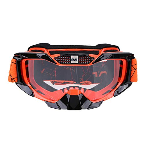 Gafas de ciclismo Motocicletas Googles Gafas Ciclismo Protección UV Gafas de esquí Gafas deportivas al aire libre Gafas de moto Gafas para gafas de sol gafas de ciclismo hombre ( Color : Orange )
