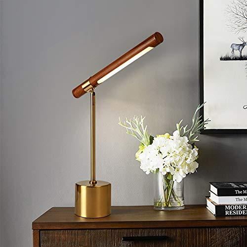 RGF Lámparas Decorativas Minimalistas Modernas De La Sala De Estar/Lámpara De Mesita De Noche del Dormitorio Personalidad Creativa Lámparas De Color Nogal