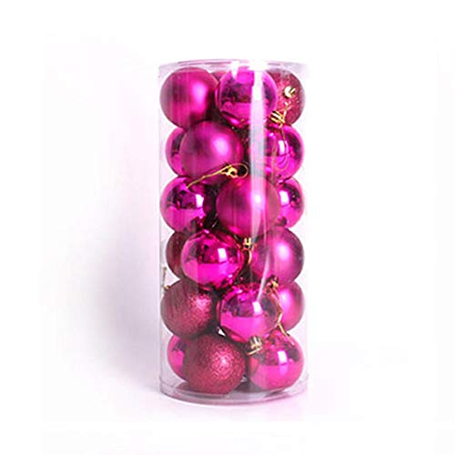 Nikgic. 24pcs Bola de decoración navideña de 6 cm de diámetro Bolas...
