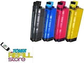Toner Refill Store Compatible 43866104 43866103 43866102 43866101 Toner Cartridge Replacement for the Oki C710 (Black, Cyan, Magenta, Yelow, 4-Pack)