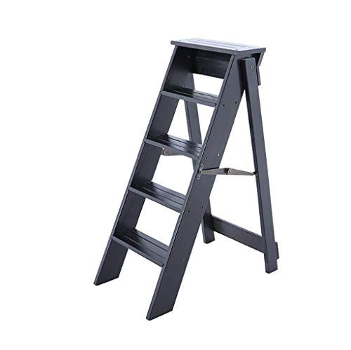 ZHJBD Furniture stool/ladder rek Folding hout 5 dieren draagbare houten bouw ruimtebesparend inklapbaar voor thuis keuken badkamer kantoor