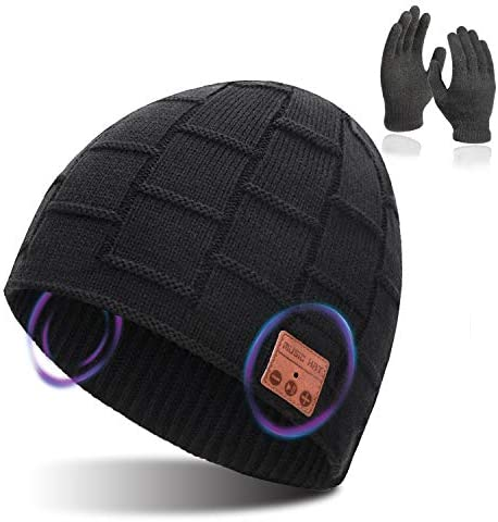 Bluetooth Beanie for Men Women MP3 Feature Wireless Bluetooth Hat for Men Microphone Feature product image
