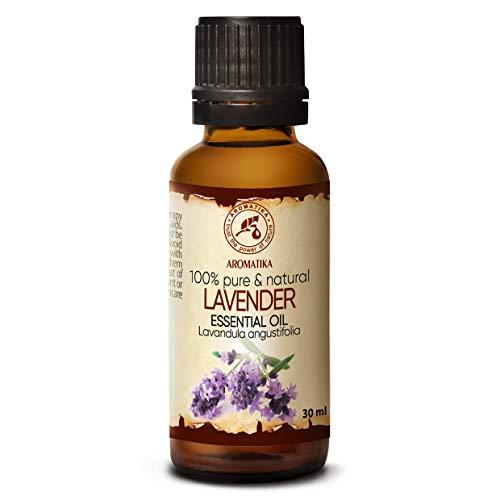 Aceite Esencial de Lavanda 30ml - Oleum Lavandulae - Bulgaria - 100% Puro y Natural - para Dormir Bien - Belleza - Bienestar - Aromaterapia - Relajación - Aroma de la Habitación - Lámpara de Aroma