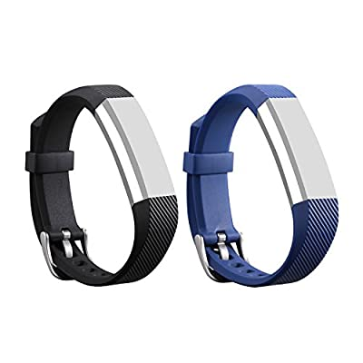 I-SMILE Newest Replacement Wristband with Secure Clasps for Fitbit Alta/Fitbit Alta HR Only(No Tracker, Replacement Bands Only)