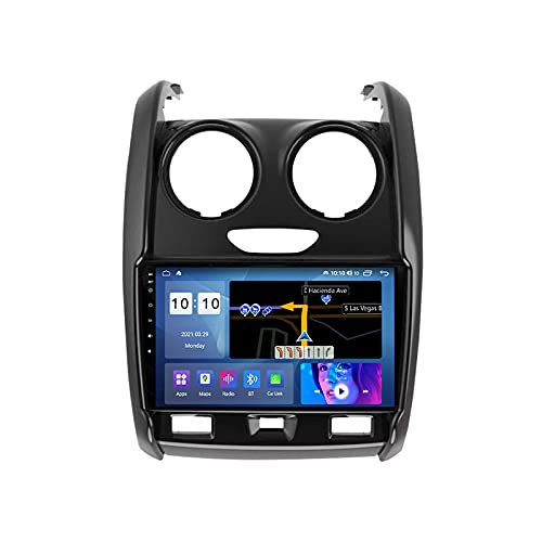 Android 9 Pulgadas Radio Multimedia para Coche para Renault Duster 2015-2020 Pantalla Táctil GPS Autoradio Admite Mandos del Volante 1080P Video WiFi Bluetooth FM Carplay,M500s