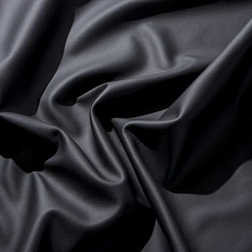 IPEA Mezzo Manto di Vera Pelle Premium – 2,2 Metri Quadri Circa – Superficie Liscia – Ritagli di Grandi Dimensioni, Nero, Differenti Colori Selezionabili