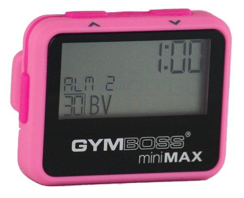 Temporizador de Intervalo y Cronómetro Gymboss miniMAX – Revestimiento Suave Rosa/Rosa Claro