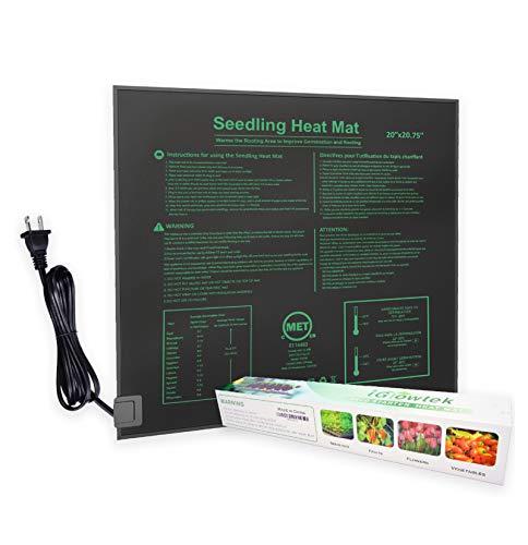 iGrowtek Waterproof Seedling Heat MatWarm Hydroponic Heating Pad 20quotx2075quot Standard