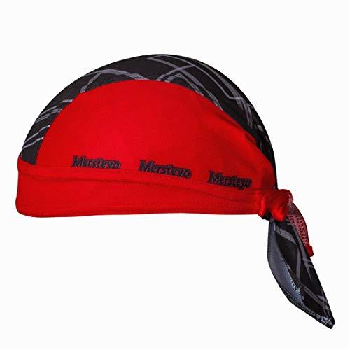 X-Labor - Bandana Unisex Transpirable, protección UV, pañuelo para la Cabeza, pañuelo para Bicicleta, Ciclismo, MTB, Rojo