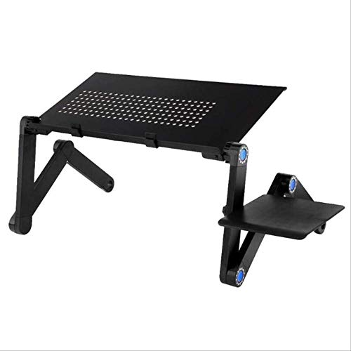Mesa de ordenador portátil Mesa de ordenador portátil plegable PC escritorio ergonómico ajustable Notebook pad soporte en la cama sofá 54027046mm con tablero de ratón