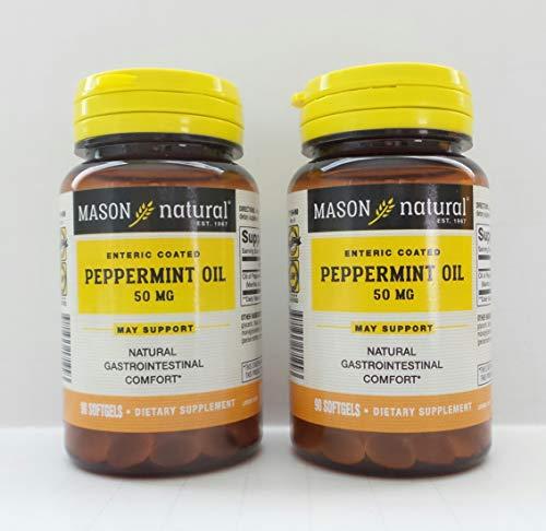 Mason Naturals, Peppermint Oil, 50 mg, 90 Softgels - 2PC
