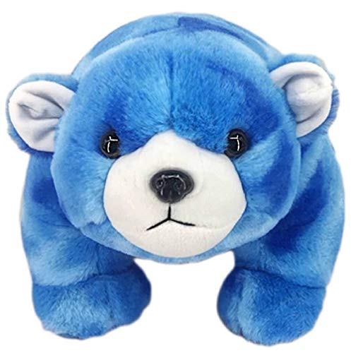 Peek A Boo Toys Blue The Polar Bear Stuffed Animal Plush Toy Gift   Blue Soft 10 Blue The Polar Bear