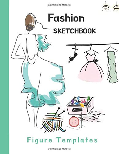 Fashion Sketchbook: Designe Own Styles and Fashion, Croquis 2 Different Poses over 110+ Female and Male Body Templates, Women Vogue Big Size for Comfortable Sketching by Campi Press