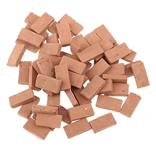 Sharplace 35er-Set 1/16 Backsteine Ziegelsteine für Modellbau Landschaftsbau