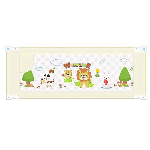 Barrières de lit LHA Baffle Enfant de barrière de Garde-Corps de lit incassable de bébé 150,180,200cm * 80cm (Couleur : Le Jaune, Taille : L-180cm)