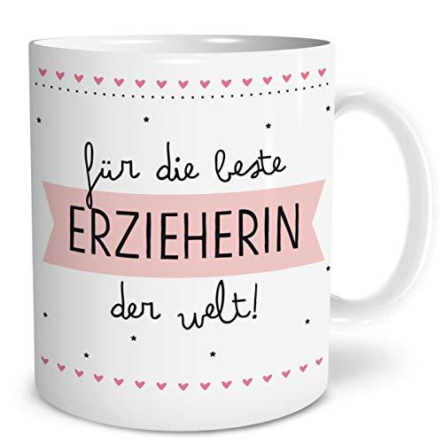 OWLBOOK Beste Erzieherin Große Kaffee-Tasse mit Spruch im Geschenkkarton Geschenke Geschenkidee für Erzieher-in zum Abschied