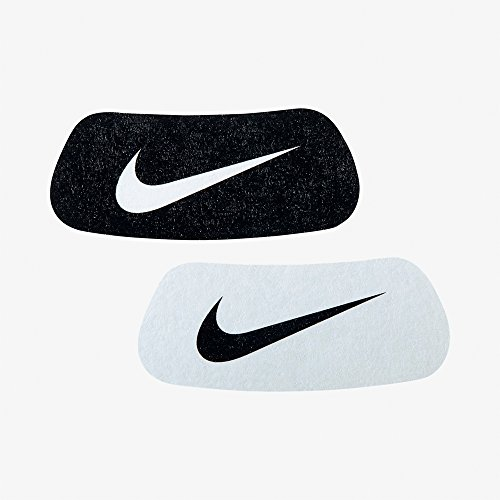 Nike Swoosh Home und Away Eyeblack Aufkleber, Black/White, White/Black