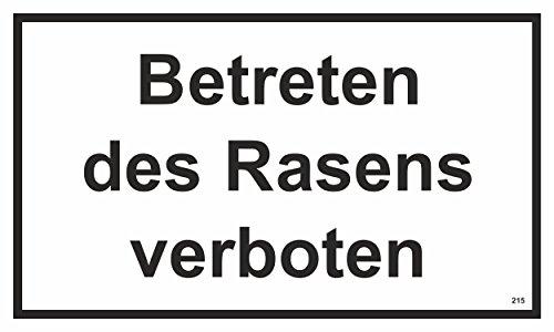 Betreten des Rasens verboten 150 x 250 mm Warn- Hinweis- und Verbotsschild PST-Kunststoff ~ schneller Versand innerhalb 24 Stunden ~