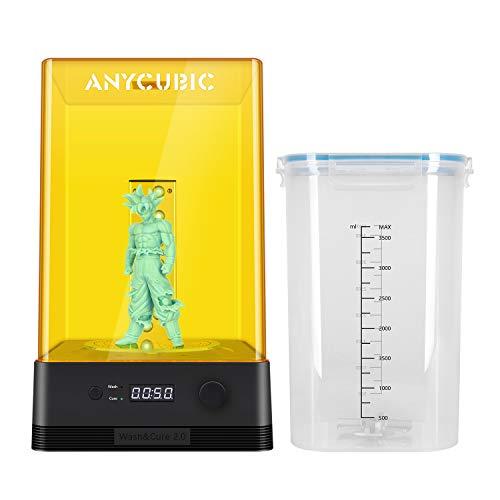 ANYCUBIC Wash & Cure Macchina 2.0 per modelli LCD/DLP/SLA 3D Stampante 3D 2 in 1 UV Wasch e Cure Box per stampanti 3D in resina Photon/Photon S/Photon Mono