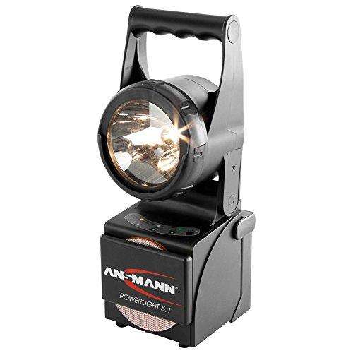 ANSMANN Powerlight 5.1 Arbeitsscheinwerfer 5W - Robuste LED Arbeitsleuchte als Werkstattleuchte oder Notbeleuchtung bei Stromausfall - Handleuchte IP65 stoßfestes & wassergeschütztes Gehäuse