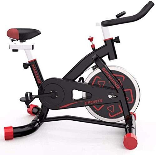 Bicicletas de ejercicio para uso doméstico Spin Bikes ajustable Manillares y cinturón de seguridad Super Mute para uso en el hogar y el gimnasio, entrenamiento cardiovascular, color blanco y negro