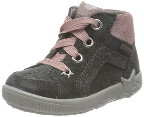Superfit, Baby - Mädchen, Lauflernschuh, Sneaker, GRAU/ROSA 2000, 21 EU