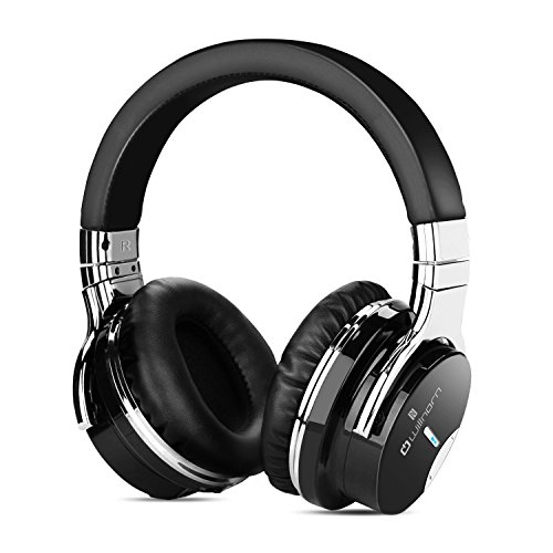 Willnorn Walker6 Wireless Active Noise Cancelling Bluetooth Headphones with Hi-Fi Sound, Microphone, NFC, 36-Hour Playtime … (black)
