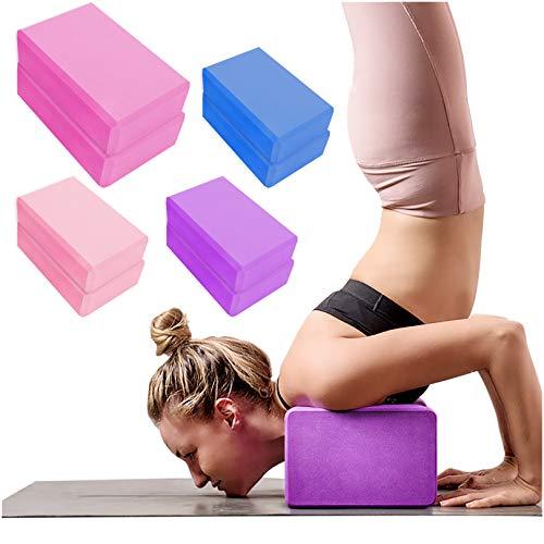 2 Pack Yoga Blocks High Density EVA Foam Brick Soft