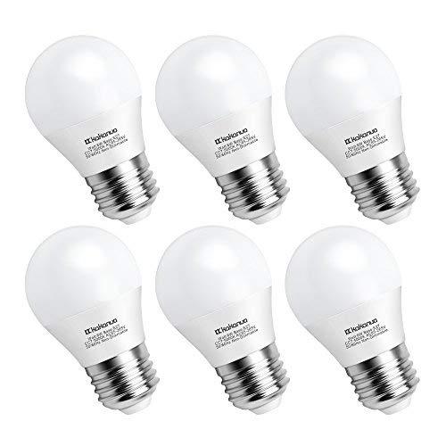 Kakanuo Lampadina LED E27 G45 6W Bianca Fredda 5000K 6000 Lumen Pari a Lampadine Alogena da 60W AC 85-265V Non-Dimmerabile 6 Pezzi