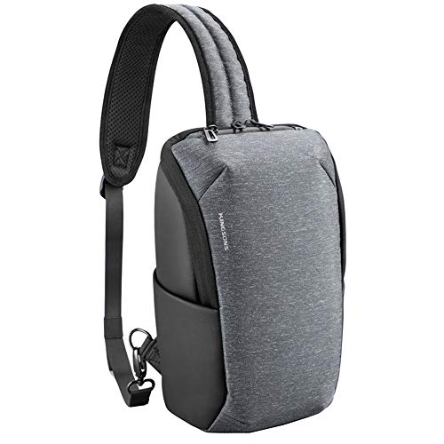 Kingsons Anti Theft Little Sling Bag Fit ipad 7th Generation 9.7 10.2 11 inch Laptop Sling shoulder backpack Small Chest Crossbody Travel Sling Bag