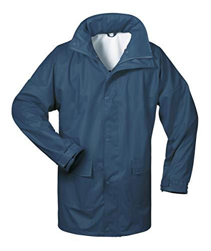 Norway PU Regen-Jacke mit Kapuze - Marine - Größe: L