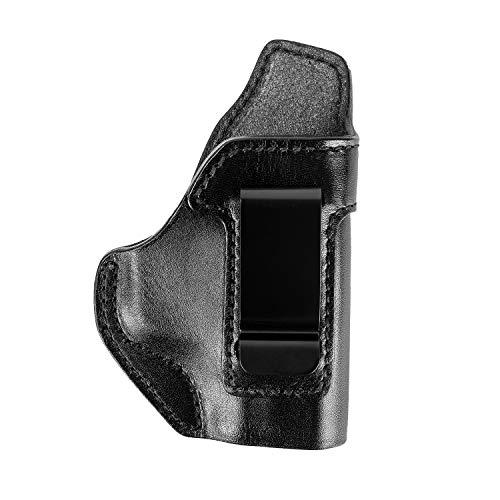 OneTigris Leder IWB Verdeckter Holster Pistolenholster für Rechtsschützen M&P 9 Shield, M&P 40 Shield (no Laser)