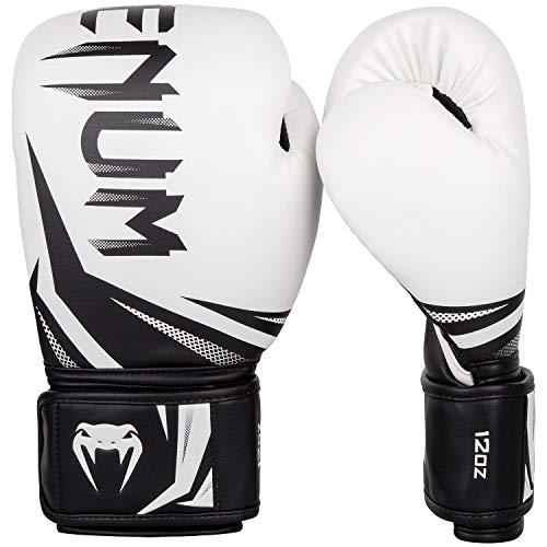 VENUM Challenger 3.0 Guantes de Boxeo, Unisex Adulto, Blanco/Negro, 14 Oz